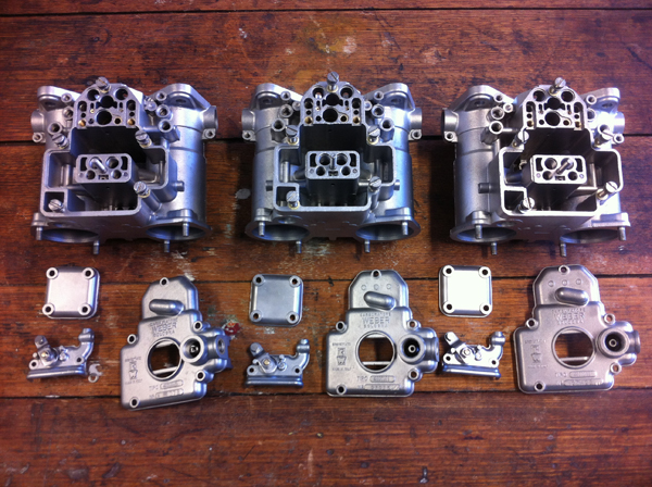 Water blasting carburettor bodies