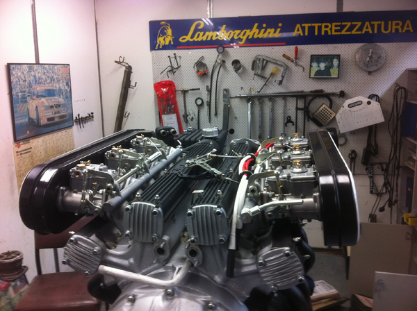 Lamborghini Countach V12 Engine